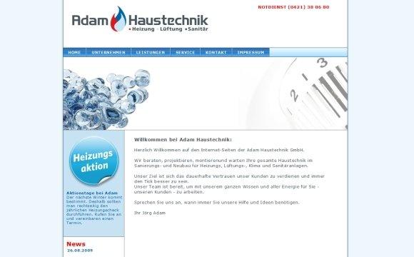 andreas menard webdesign-Adam Haustechnik