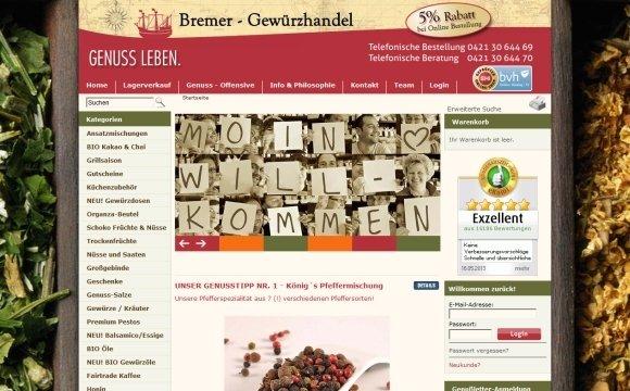 andreas menard webdesign-Bremer-Gewürzhandel