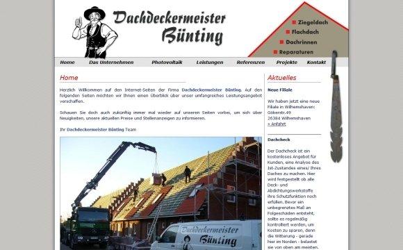 andreas menard webdesign-Dachdeckermeister Bünting