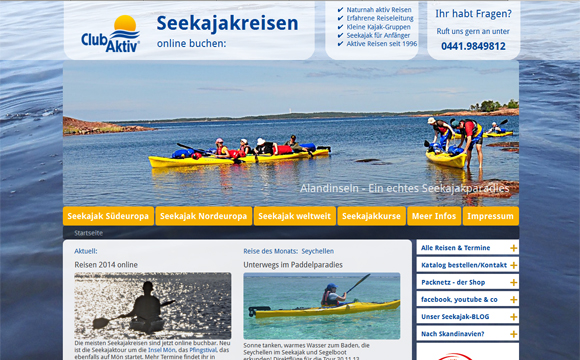 andreas menard webdesign-Club-Aktiv Reisebuchung