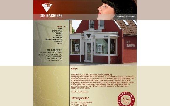 andreas menard webdesign-Die Barbiere, Oldenburg