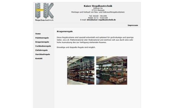 andreas menard webdesign-Kaiser Regalbautechnik
