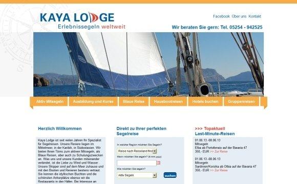 andreas menard webdesign-Kayalodge Reisebuchung