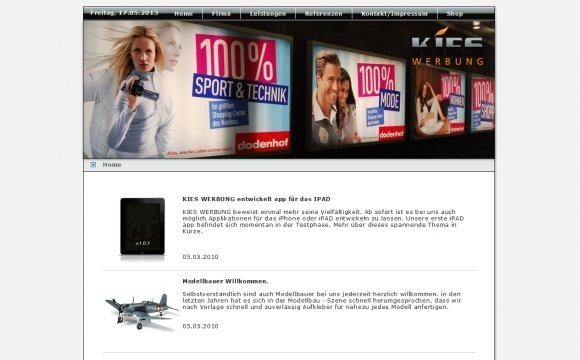 andreas menard webdesign-Kies Werbung