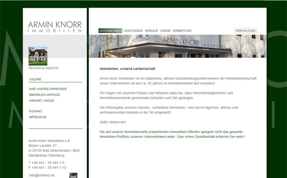 andreas menard webdesign-Armin Knorr Immobilien