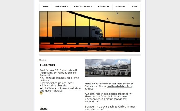 andreas menard webdesign-Spedition Krause