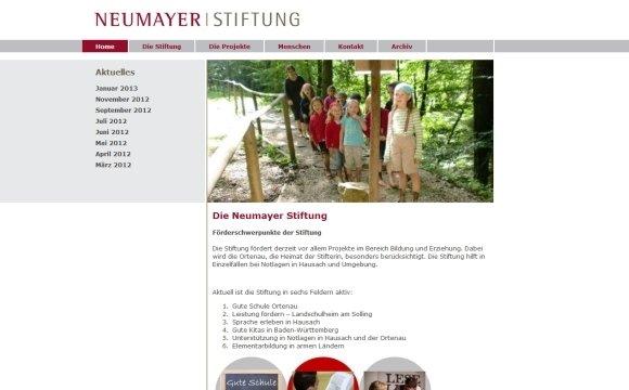 andreas menard webdesign-Neumayer-Stiftung