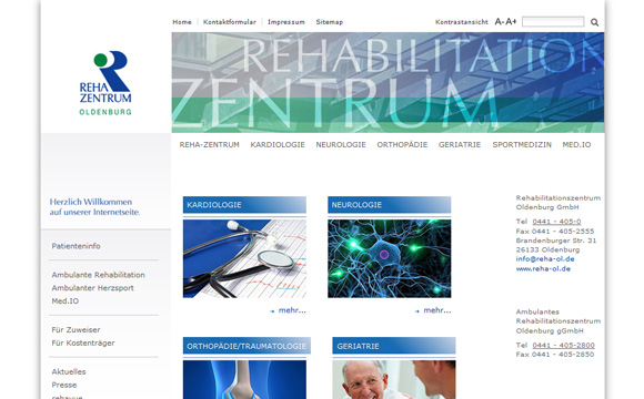 andreas menard webdesign-Rehazentrum Oldenburg