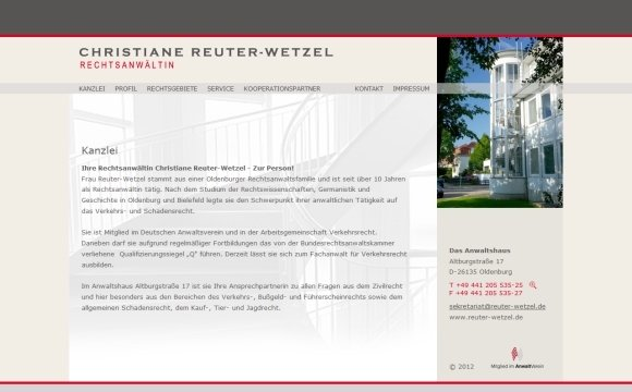 andreas menard webdesign-Reuter-Wetzel Rechtsanwältin