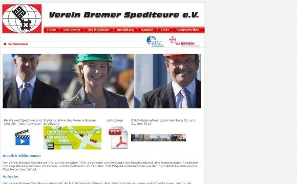 andreas menard webdesign-Verein Bremer Spediteure